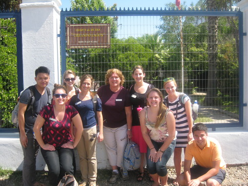 UML students at the Hospital de Dia.JPG
