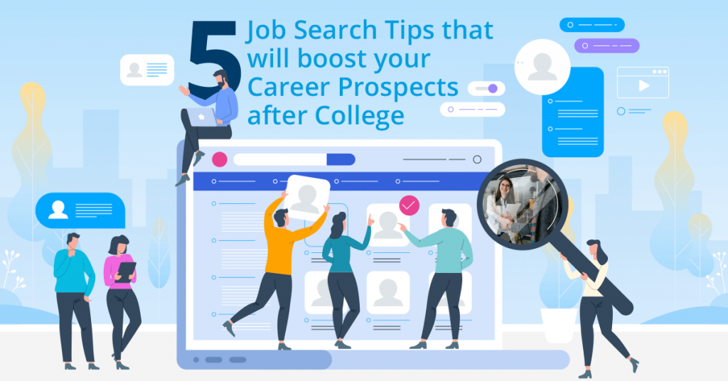 job search tips after college career services