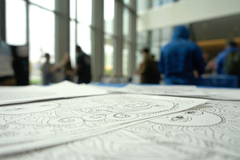 coloring at the stress relief fair uml