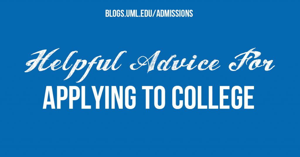 helpful advice applying to college