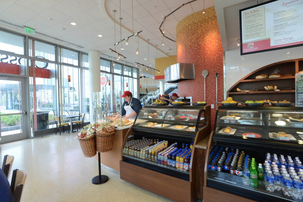 crossroads cafe at university crossing sustainable dining options umass lowell