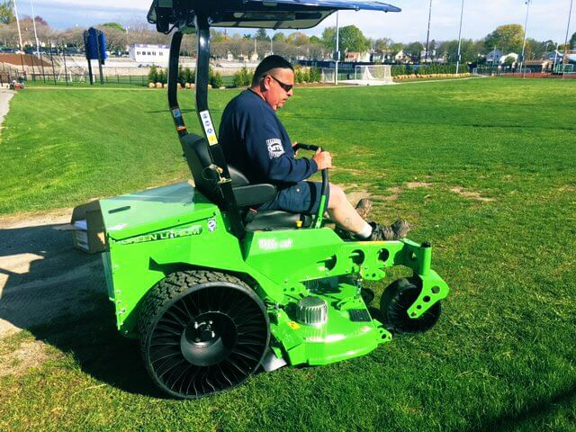 funding from the seed fund helped purchase this electric lawn mower
