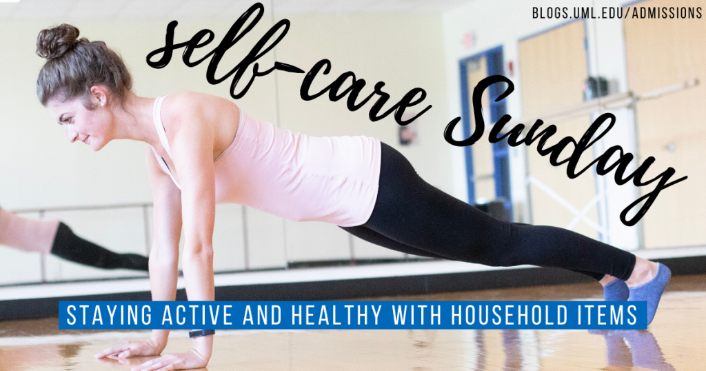 staying active and healthy diy gym household items