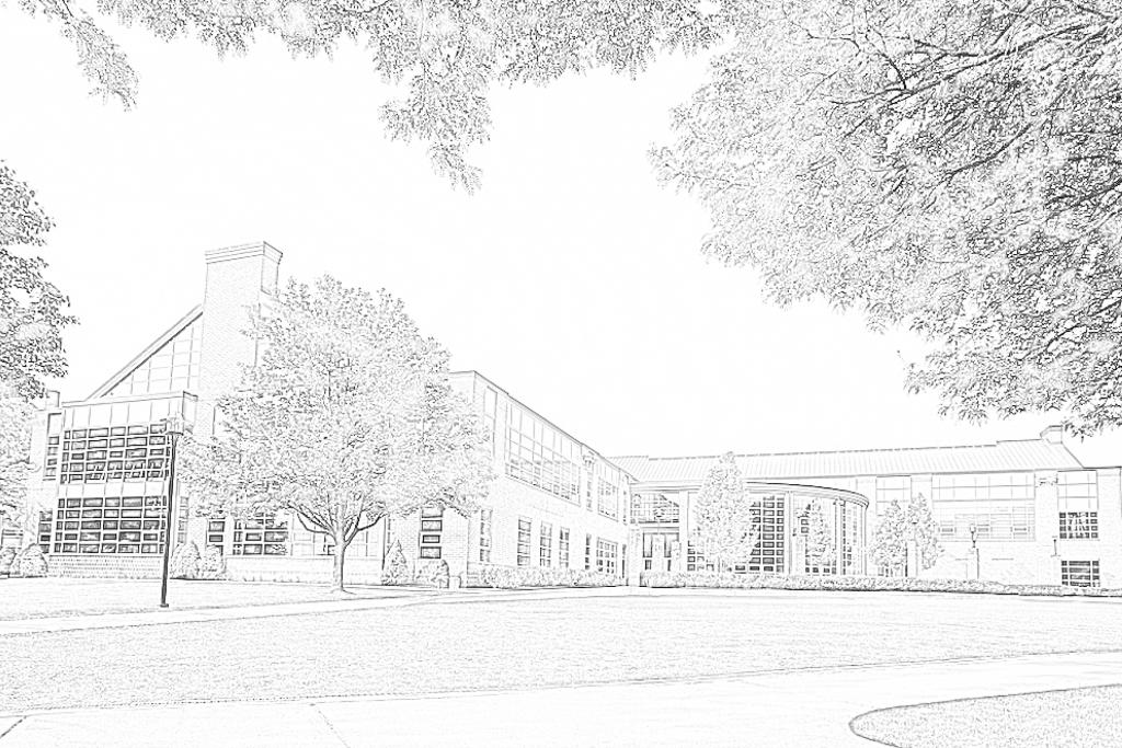 campus rec center coloring page