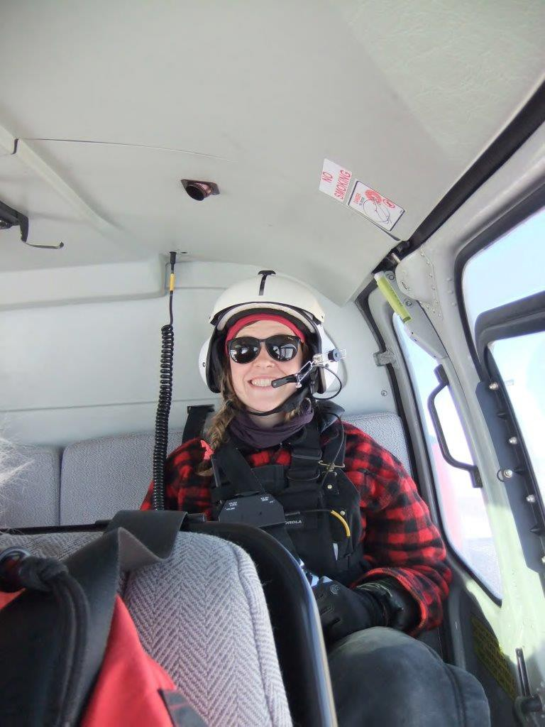 Mari in the helo.