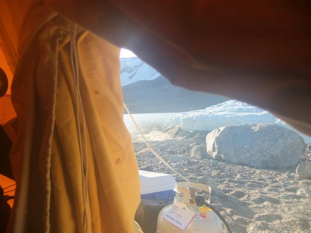 View from my tent.