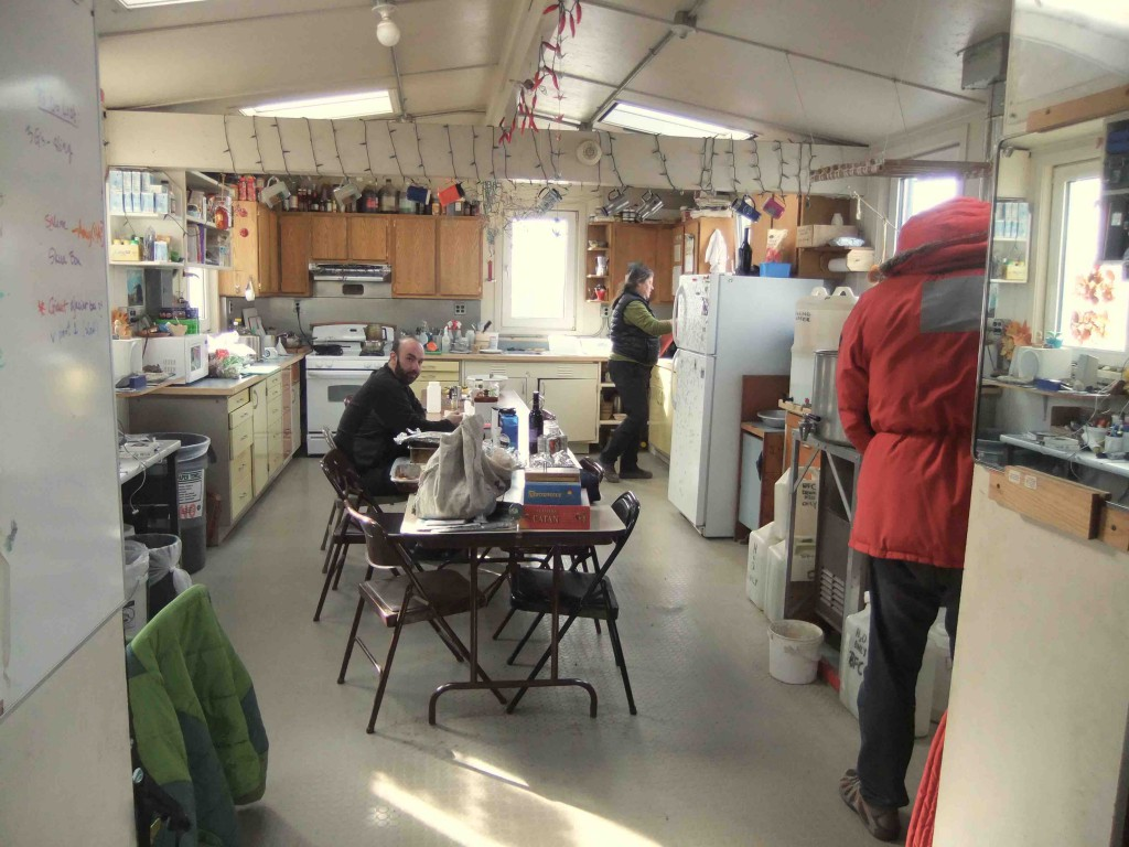Jay giving you the eye in the Lake Hoare kitchen. Wonderful Rae is in the background.