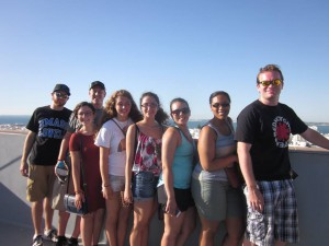 Some classmates at the top of the Torre Tavira