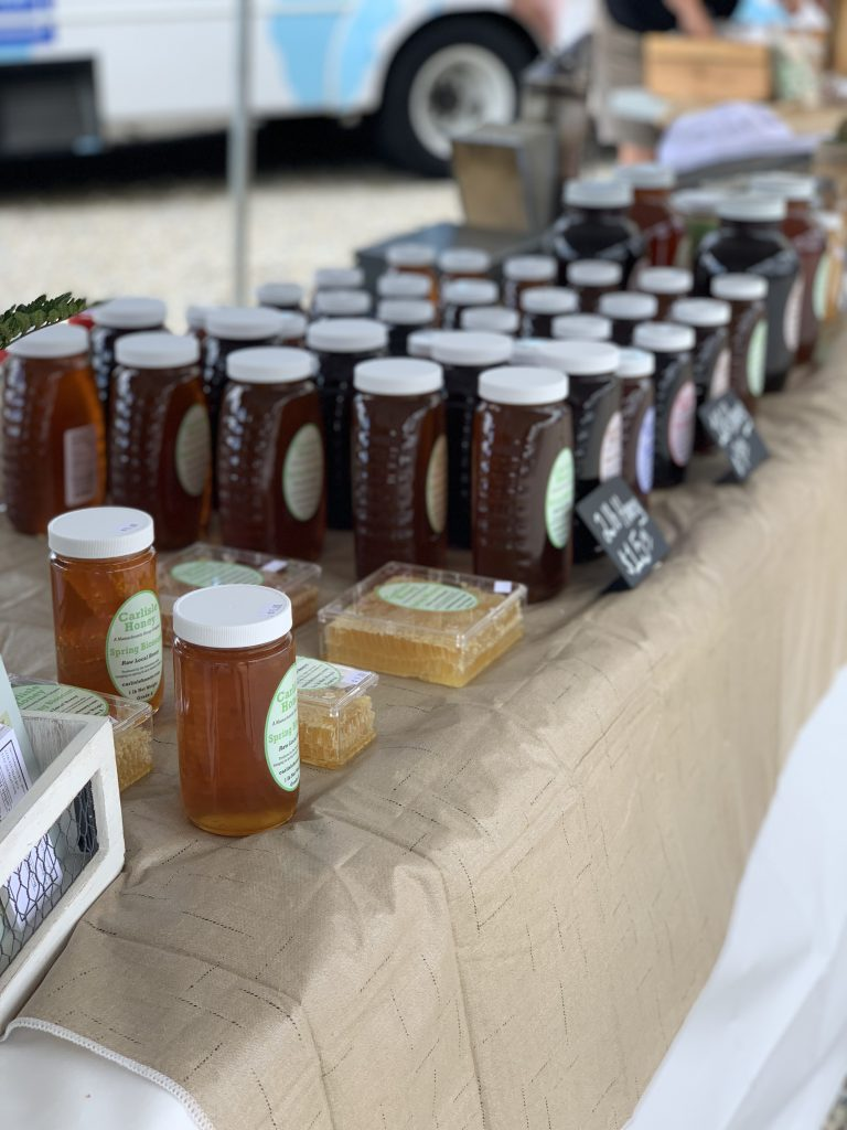 Table with honey