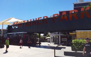 Entrance to Container Park