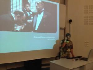 Prof. Simeon Magliveras delivering a guest lecture