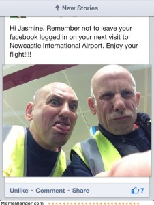 facebook-logged-in-newcastle-international-airport