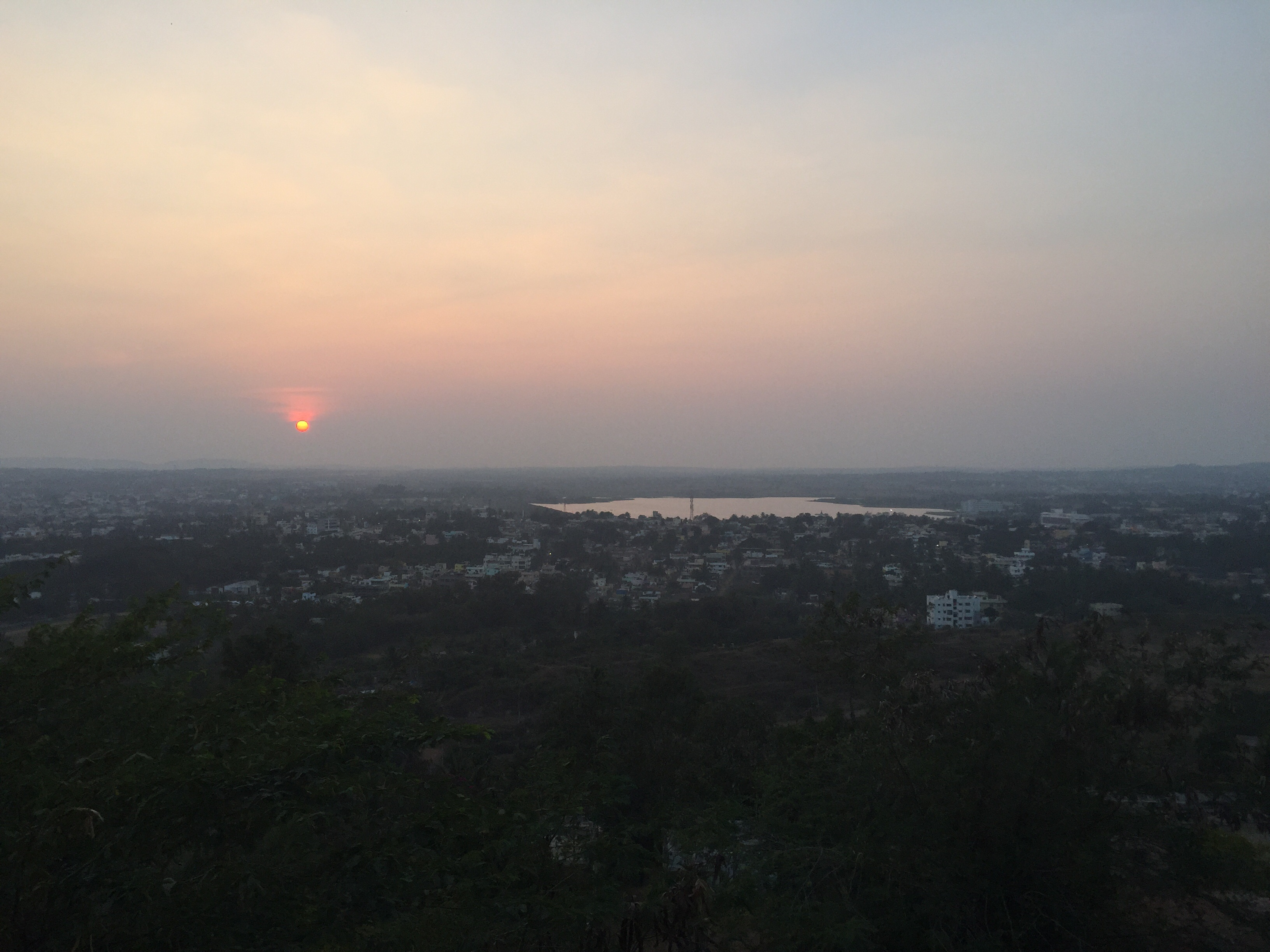 Sunset over Hubli