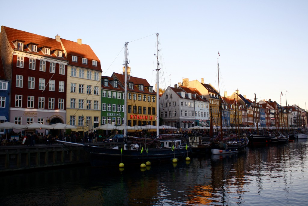 This is just a picture I took while in the famous harborside, Nyhavn! We walked along the harbor just as the sun was setting!