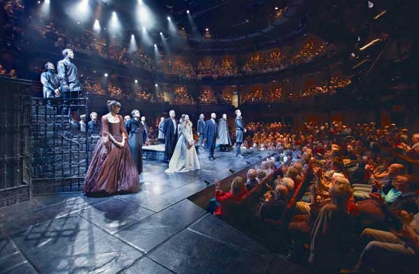 The Royal Shakespeare Theatre is a 1,040+ seat thrust stage theatre owned by the Royal Shakespeare Company dedicated to the English playwright and poet William Shakespeare.