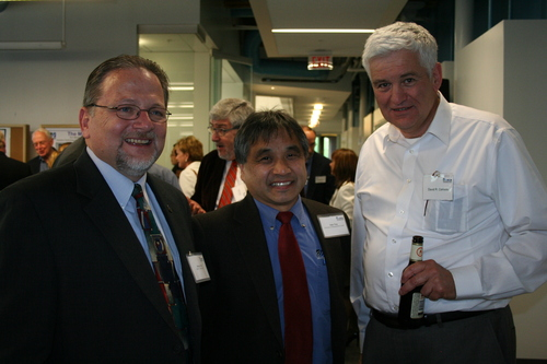 Thumbnail image for Thumbnail image for Steven Tello, M2D2 Director, John Ting, Dean of Engineering, David Comeau, President of Albright Tech.JPG
