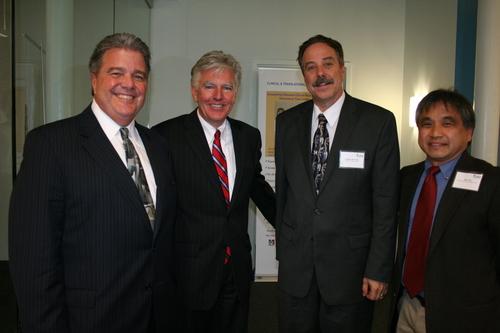 Umass President Carter, Umass Lowell Chancellor Meehan, Steven McCarthy, M2D2 Director, Dean Ting.JPG