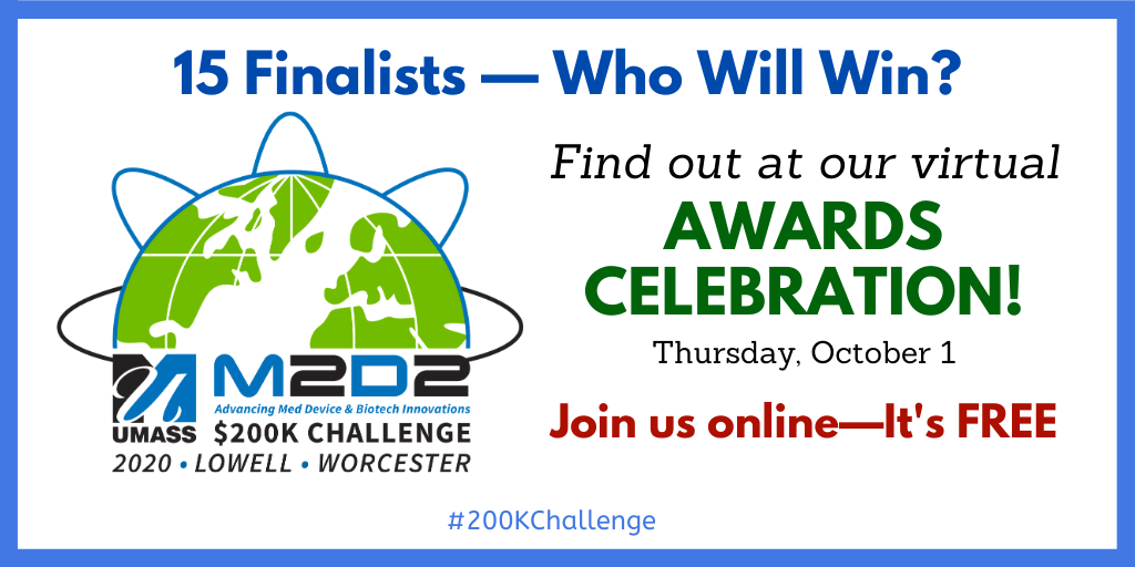 2020 M2D2 $200K Challenge Awards Celebration Thursday Oct. 1