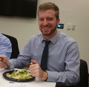 Andre enjoying a meal at a Student Gov event