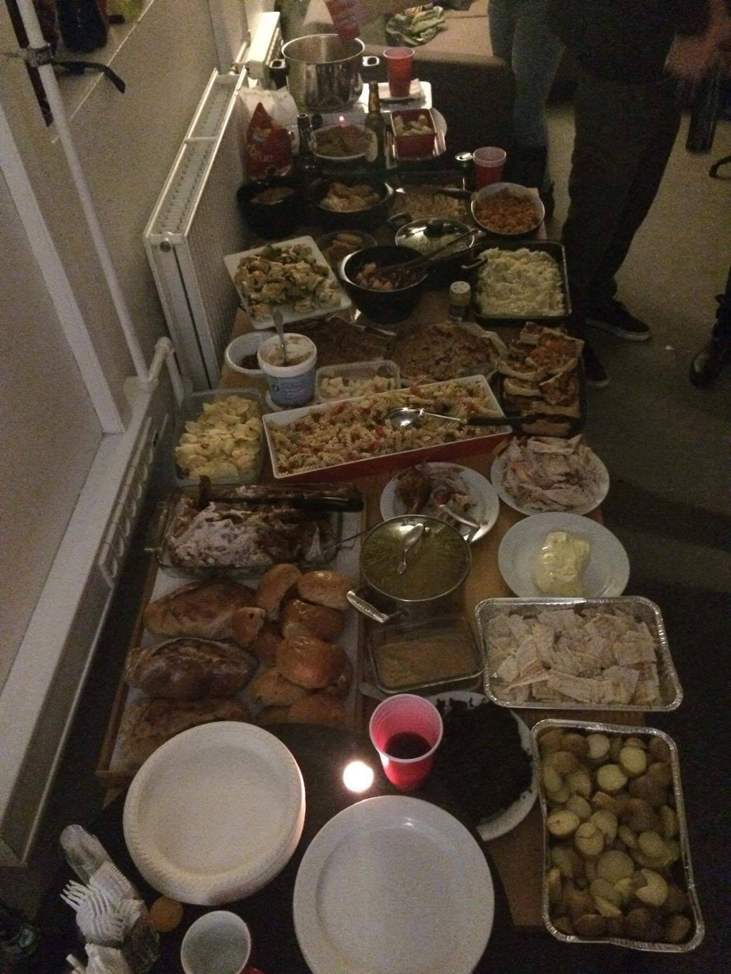 The spread.
