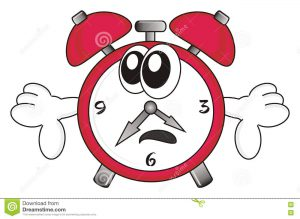 Image result for sad clock cartoon