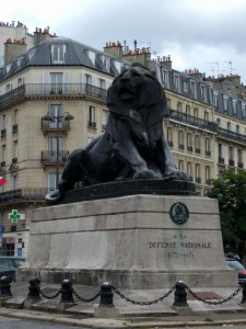 Lion of Belfort located at the Place de Denfert Rochereau