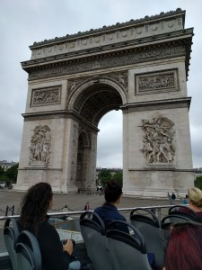 Arc de Triomphe - historic display of French military might
