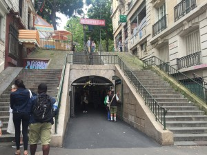 You know you're in Montmartre when you see this many stairs