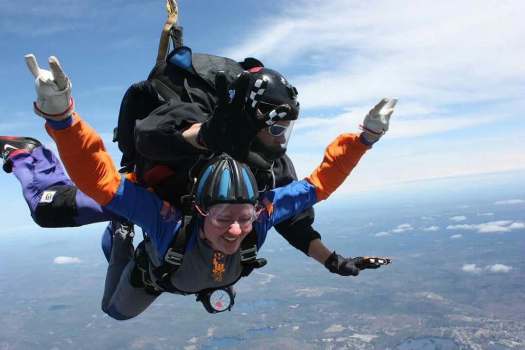 Maddie Scott tandem skydiving.