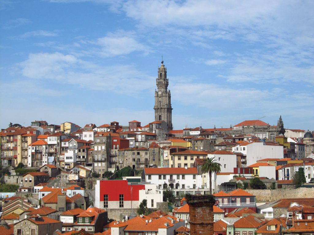 City scape of Porto, Portugal.